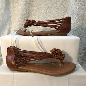 """Lucky Brand """"Chelsea"""" Braided Sandals"""